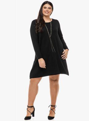 Φόρεμα Μαύρο Λεπτής Πλέξης